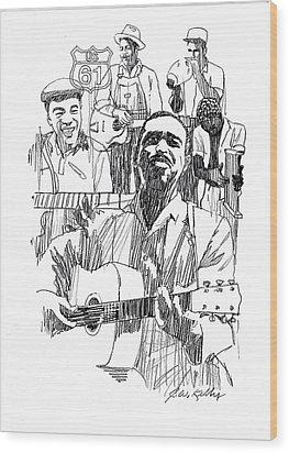 Bluesmen Wood Print by J W Kelly