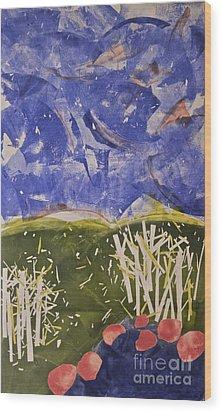 Blustery Day Wood Print by Deborah Talbot - Kostisin