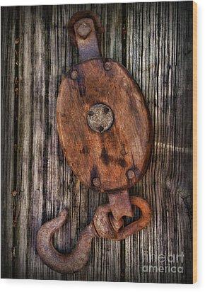 Boat - Block And Tackle Wood Print by Paul Ward