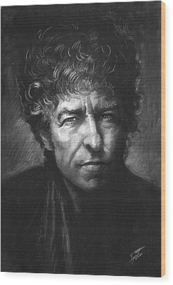 Bob Dylan Wood Print by Viola El