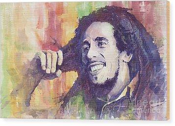 Bob Marley 02 Wood Print by Yuriy  Shevchuk