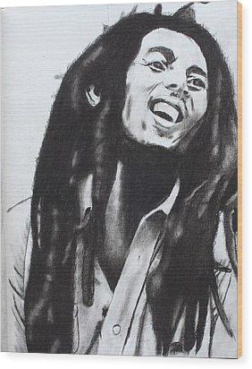 Bob Marley Wood Print by Aaron Balderas