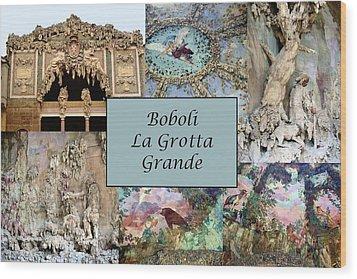 Boboli La Grotta Grande 1 Wood Print by Ellen Henneke