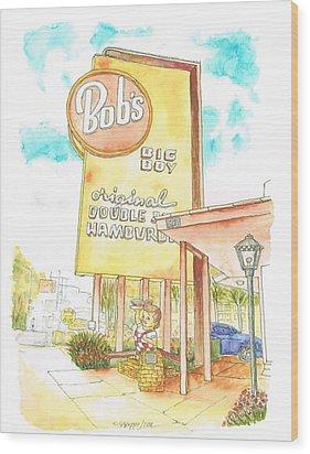 Bob's Big Boy In Burbank - California Wood Print by Carlos G Groppa