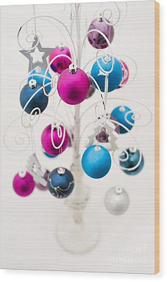 Bold Baubles Wood Print by Anne Gilbert