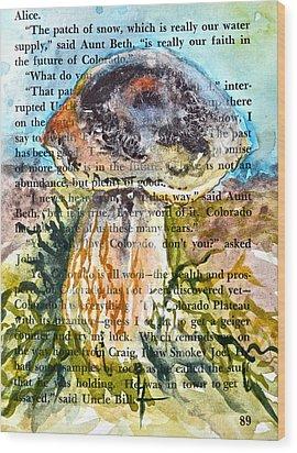 Boletus Edulis Close Up Wood Print by Beverley Harper Tinsley