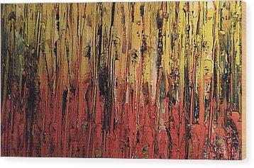 Bonfire Wood Print by Lisa Williams
