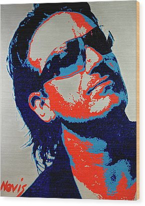 Bono Wood Print by Barry Novis