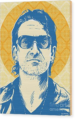 Bono Pop Art Wood Print by Jim Zahniser