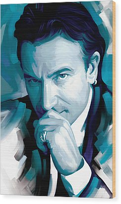Bono U2 Artwork 4 Wood Print by Sheraz A