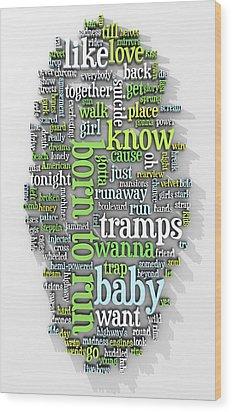 Born To Run Wood Print by Scott Norris
