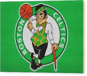 Boston Celtics Canvas Wood Print by Dan Sproul