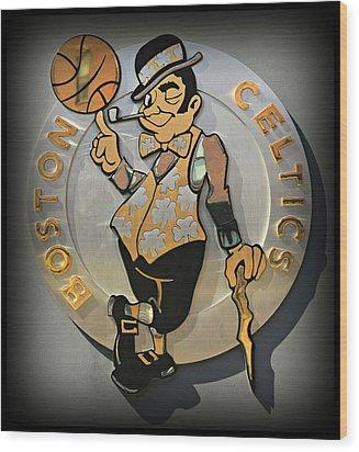 Boston Celtics Wood Print by Stephen Stookey
