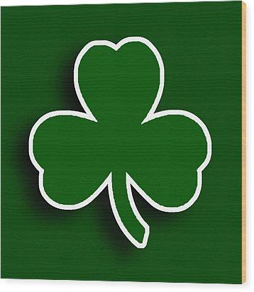 Boston Celtics Wood Print by Tony Rubino