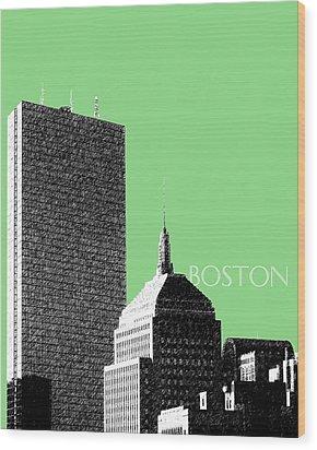 Boston Hancock Tower - Sage Wood Print by DB Artist