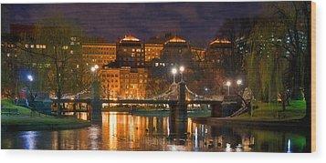 Boston Lagoon Bridge 2 Wood Print by Joann Vitali