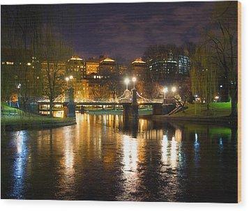 Boston Lagoon Bridge Wood Print by Joann Vitali