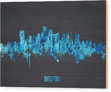 Boston Massachusetts Usa Wood Print by Aged Pixel
