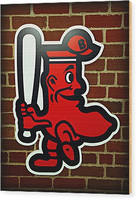 Boston Red Sox 1950s Logo Wood Print by Stephen Stookey