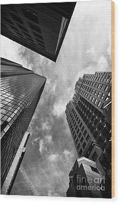 Boston Rising Wood Print by John Rizzuto
