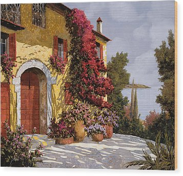 Bouganville Wood Print by Guido Borelli