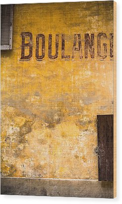 Boulangerie Wood Print by Instants
