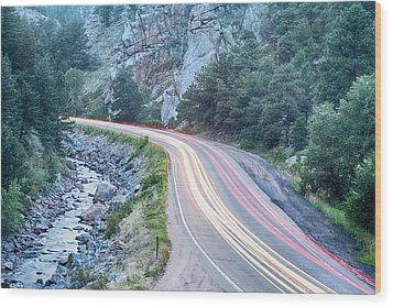 Boulder Canyon Drive And Commute Wood Print by James BO  Insogna