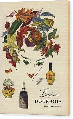 Bourjois 1940s Usa Womens Wood Print by The Advertising Archives