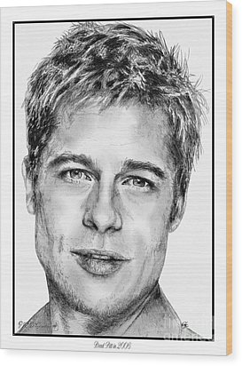 Brad Pitt In 2006 Wood Print by J McCombie