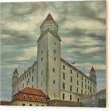 Bratislava Castle Wood Print by Jeff Kolker