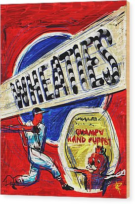 Breakfast Of Champions Wood Print by Russell Pierce