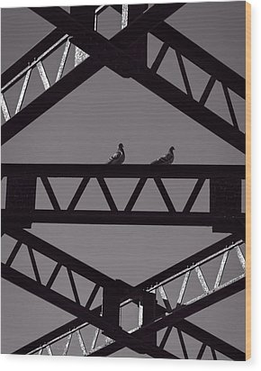 Bridge Abstract Wood Print by Bob Orsillo