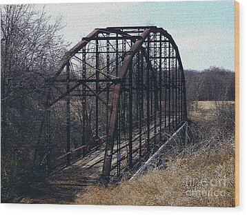 Bridge To Nowhere Wood Print by R McLellan