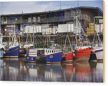 Bridlington Marina Wood Print by Svetlana Sewell