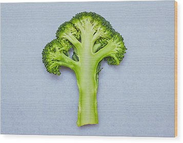 Broccoli Wood Print by Tom Gowanlock