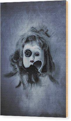Broken Head Wood Print by Joana Kruse