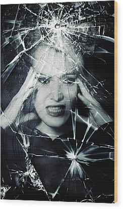 Broken Window Wood Print by Joana Kruse