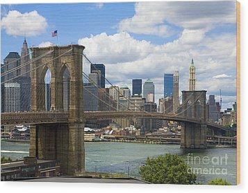 Brooklyn Bridge Wood Print by Diane Diederich