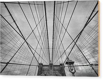 Brooklyn Bridge Wood Print by John Farnan