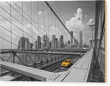 Brooklyn Bridge View Nyc Wood Print by Melanie Viola