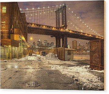 Brooklyn Wood Print by Denis Tangney Jr
