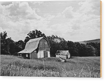 Brown County Barn II Wood Print by Off The Beaten Path Photography - Andrew Alexander