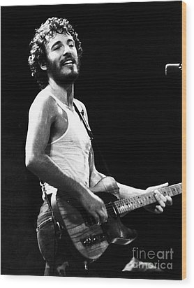 Bruce Springsteen 1975 Wood Print by Chris Walter