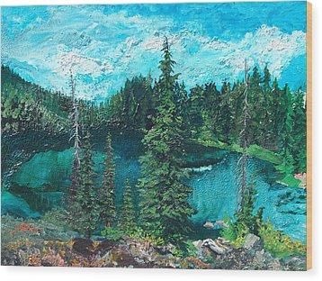 Buck Lake Wood Print by Joseph Demaree