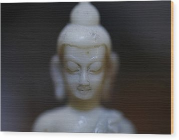 Buddha Wood Print by Brady D Hebert