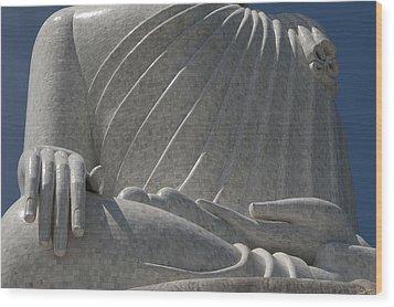 Buddha's Hands - Big Buddha Of Phuket Dthp415 Wood Print by Gerry Gantt