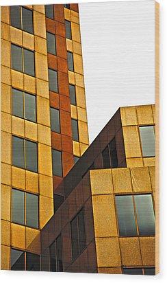 Building Blocks Wood Print by Karol Livote