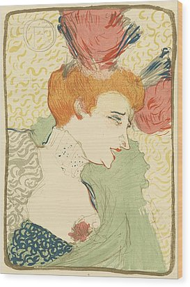 Bust Of Mlle. Marcelle Lender Wood Print by Toulouse-Lautrec