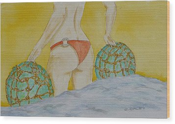 Butt And  Bouys Wood Print by Charles  Daley
