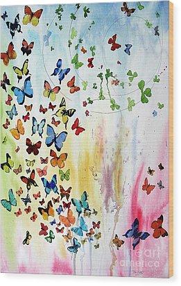 Butterflies Wood Print by Tom Riggs